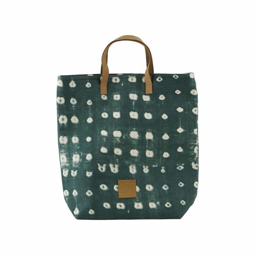 House Doctor Shopping Bag Dots Green