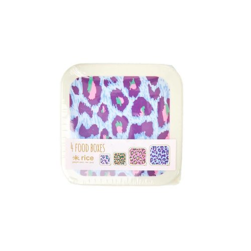 Rice Foodboxes Leopard set/4
