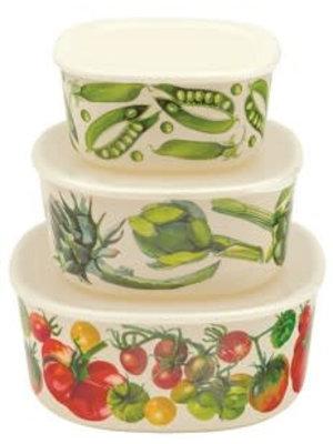Emma Bridgewater Melamine Containers met deksel set/3 Vegetable Garden