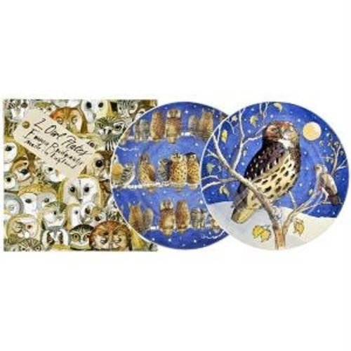 Emma Bridgewater 8.5 Plate set/2 Owls