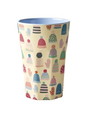 Rice Melamine Tall Cup Mittens and Beanies