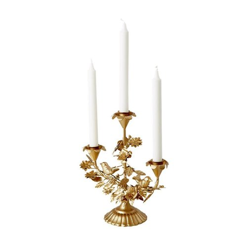 Rice Candle Holder 3 arm Gold