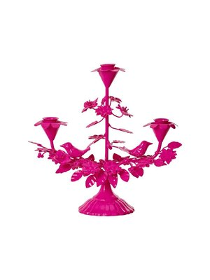 Rice Candle Holder 3 arm Neon Pink