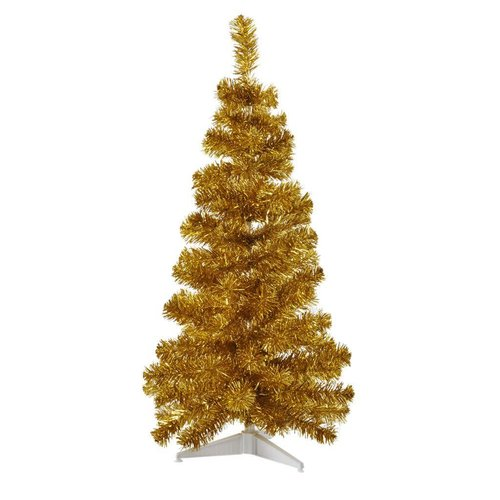 Rice Christmas Tree L Gold plastic