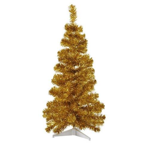 Rice Christmas Tree L Gold plastic