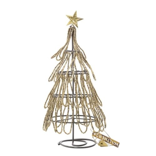 Walther & Co Christmas Tree  w. Beads gold 28054-24