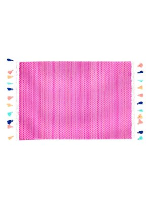 Rice Placemat Bamboo Kwastjes roze