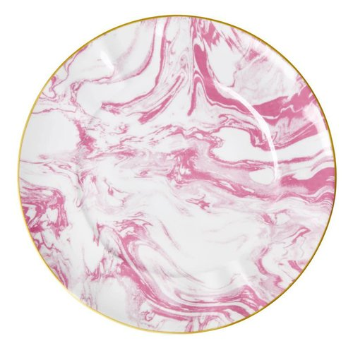 Rice Dinerbord Marble Bubblegum Roze