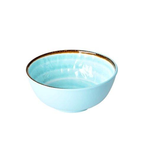 Rice Melamine kom Swirl M aqua