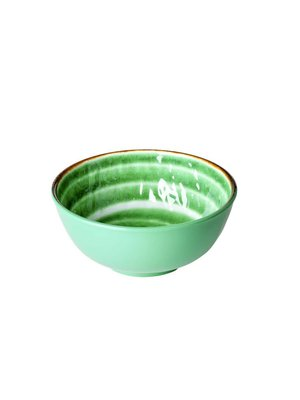 Rice Melamine kom Swirl M groen