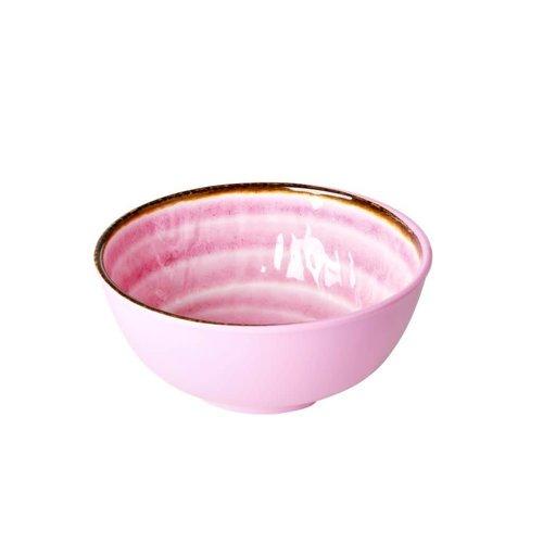 Rice Melamine kom Swirl M roze