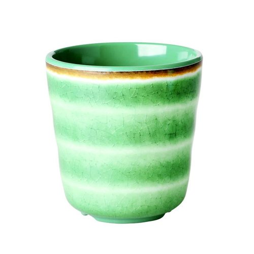 Rice Melamine beker Swirl groen