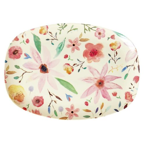 Rice Melamine ovaal bord Selmas Flower