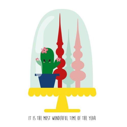 Kerstkaart Wonderful Time of ... - stolp