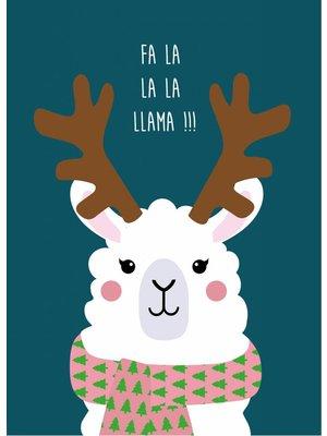 Kerstkaart Fa La Llama