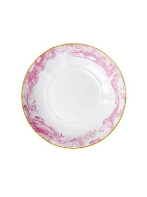 Rice Diep bord Marble Bubblegum Roze