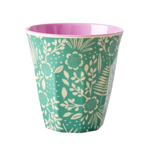 Rice Melamine beker Fern & Flower Green