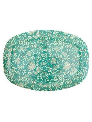 Rice Melamine ovaal bord Fern Flower green