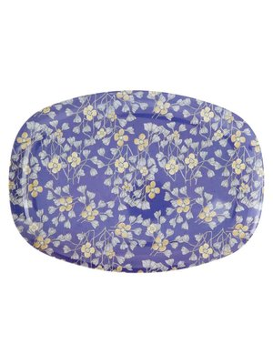 Rice Mel Rect Plate Hanging Flower