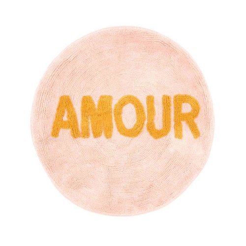 Rice Vloermat rond Coral - Amour