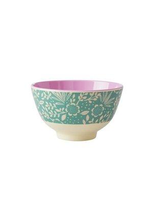 Rice Melamine kom S Fern & Flower groen