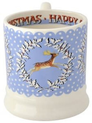 Emma Bridgewater 0.5 pt Mug Christmas Wreath Deer