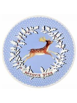 Emma Bridgewater 8.5 Plate Christmas Wreath Deer