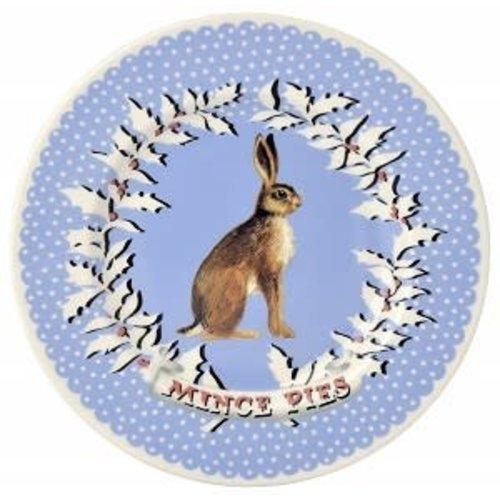Emma Bridgewater 8.5 Plate Christmas Wreath Hare