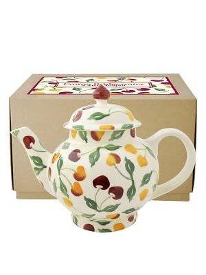 Emma Bridgewater 4 Mug Teapot Summer Cherries
