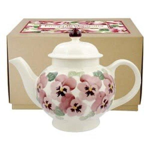 Emma Bridgewater 4 Mug Teapot Pink Pansy