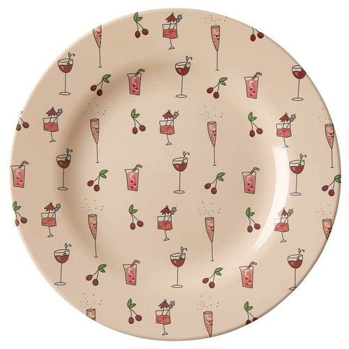 Rice Melamine lunch bord Pink Cocktail