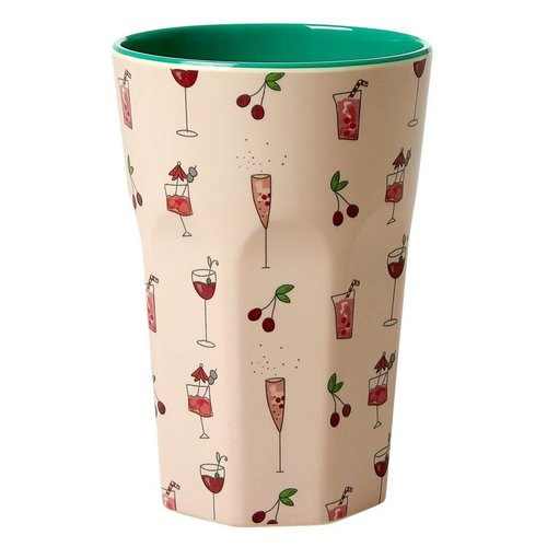 Rice Melamine Tall beker Pink Cocktail