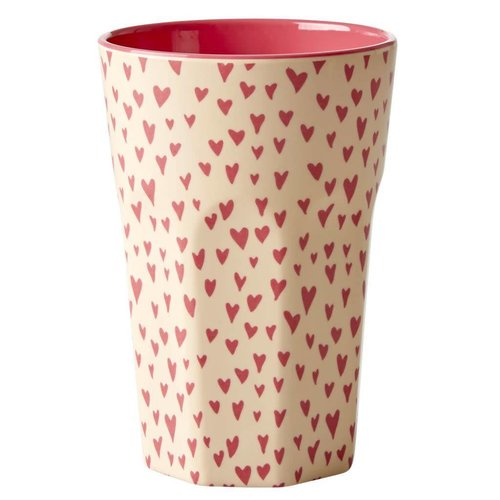 Rice Tall Cup Small Hearts