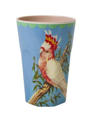 Rice Melamine Tall beker Vintage Cockatoo