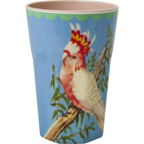 Rice Tall Cup Vintage Cockatoo