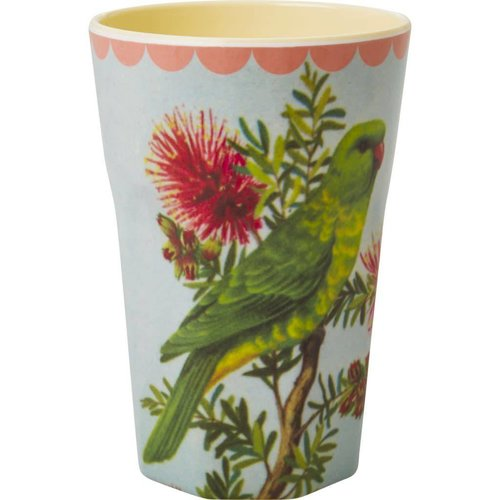 Rice Tall Cup Vintage Parakeet