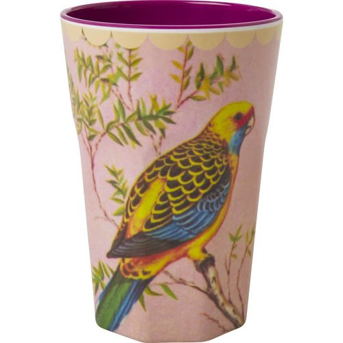 Rice Tall Cup Vintage Budgie