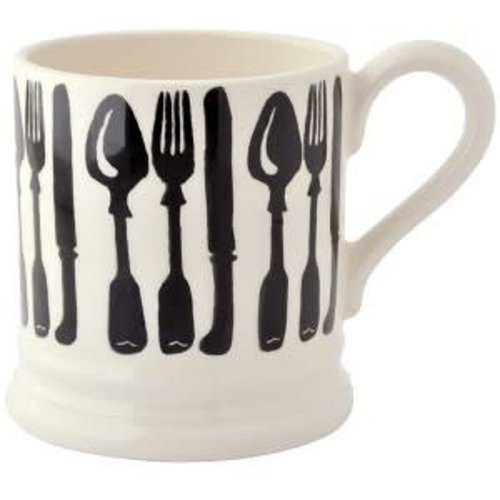 Emma Bridgewater 0.5 pt Mug Knives & Forks