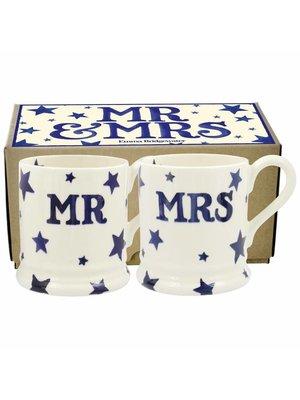 Emma Bridgewater 0.5 pt Mug Mr&Mrs s/2 Starry Skies