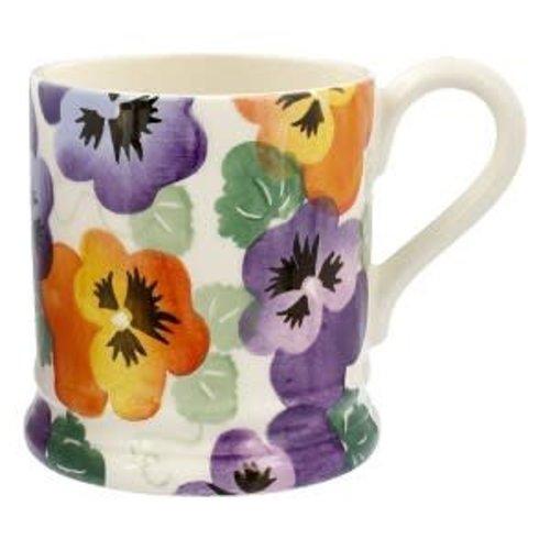 Emma Bridgewater 0.5 pt Mug Purple Pansy