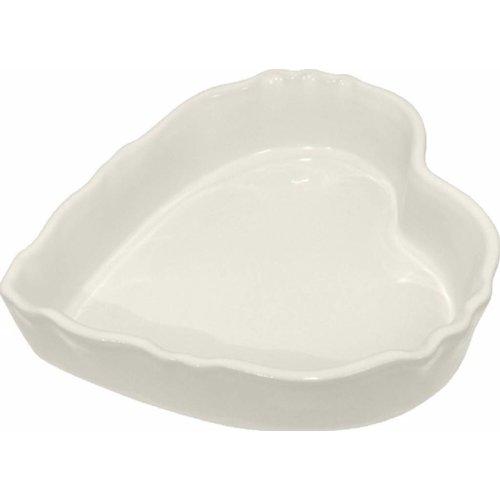 Ovenschaal Hart 18 cm White off
