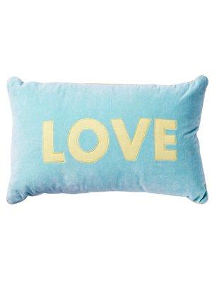 Rice Kussen 50x30 Velvet mint Love
