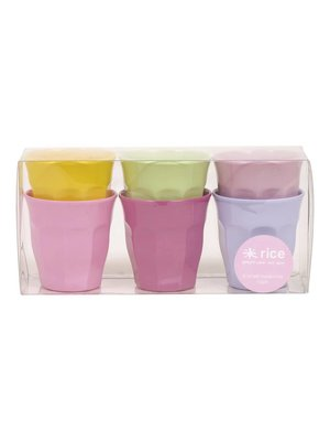 Rice Melamine Cup small Girly set/6