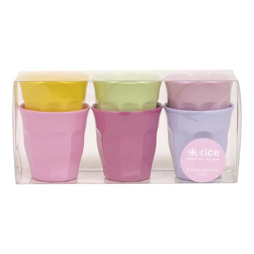 Rice Melamine Beker small Girly set/6
