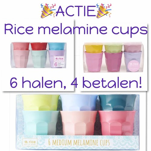 Rice Melamine Beker medium Extra Ordinary set/6