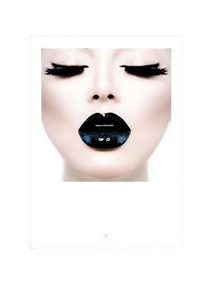 Incado Poster 50x70 Wall Art Black Lips