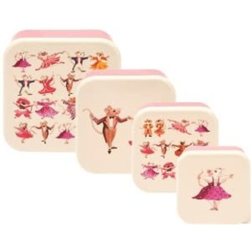 Emma Bridgewater Melamine Snackdoos s/4 Dancing Mice