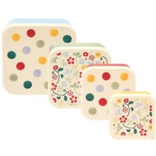 Emma Bridgewater Melamine Snackdoos s/4 Polka Dots