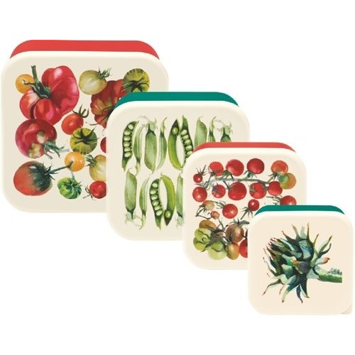 Emma Bridgewater Melamine Snackdoos s/4 Vegetables