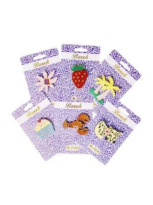 Rice Broche Glitter Luipaard